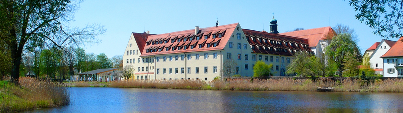 Exterior view with lake – Kloster Wald – High school – Boarding school – Workshop