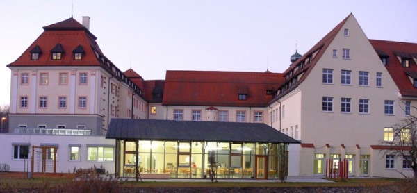 Kloster Wald boarding school during the blue hour